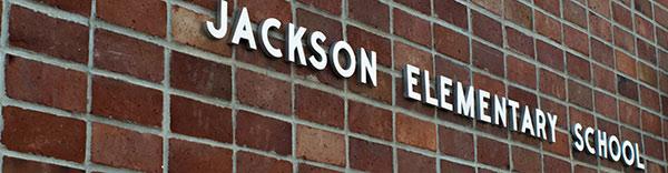 Jackson Elementary text on brick wall
